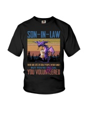 SON-IN-LAW - DRAGON -VINTAGE - YOU VOLUNTEERED Youth T-Shirt thumbnail