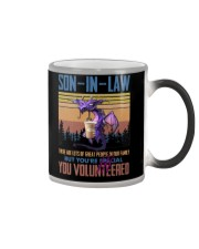 SON-IN-LAW - DRAGON -VINTAGE - YOU VOLUNTEERED Color Changing Mug thumbnail