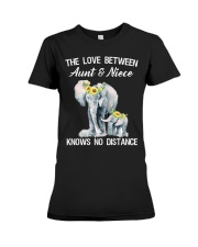 The love between Aunt and Niece knows no distance Premium Fit Ladies Tee thumbnail