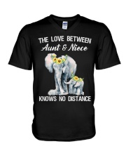 The love between Aunt and Niece knows no distance V-Neck T-Shirt thumbnail