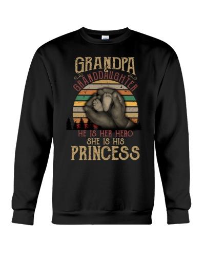 Grandpa and granddaughter He is her hero