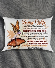 TO MY WIFE - BUTTERFLY - I LOVE YOU Rectangular Pillowcase aos-pillow-rectangle-front-lifestyle-1