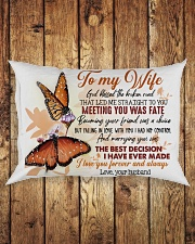 TO MY WIFE - BUTTERFLY - I LOVE YOU Rectangular Pillowcase aos-pillow-rectangle-front-lifestyle-2