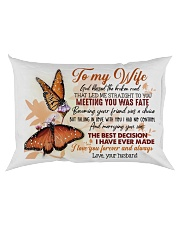TO MY WIFE - BUTTERFLY - I LOVE YOU Rectangular Pillowcase back
