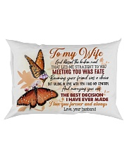 TO MY WIFE - BUTTERFLY - I LOVE YOU Rectangular Pillowcase front