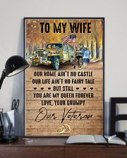 To My Wife - Veteran - You Are My Queen Forever 16x24 Poster lifestyle-poster-2