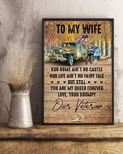 To My Wife - Veteran - You Are My Queen Forever 16x24 Poster lifestyle-poster-3