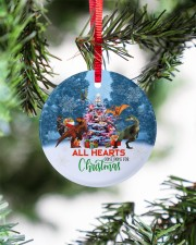 Dinosaur - All Hearts Come Home For Christmas Circle ornament - single (porcelain) aos-circle-ornament-single-porcelain-lifestyles-07