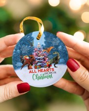 Dinosaur - All Hearts Come Home For Christmas Circle ornament - single (porcelain) aos-circle-ornament-single-porcelain-lifestyles-08