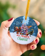 Dinosaur - All Hearts Come Home For Christmas Circle ornament - single (porcelain) aos-circle-ornament-single-porcelain-lifestyles-09