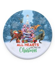 Dinosaur - All Hearts Come Home For Christmas Circle ornament - single (porcelain) front