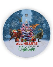 Dinosaur - All Hearts Come Home For Christmas Circle ornament - single (wood) thumbnail