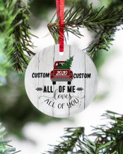To Wife - Christmas - Red Truck - Personalized Circle ornament - single (porcelain) aos-circle-ornament-single-porcelain-lifestyles-07