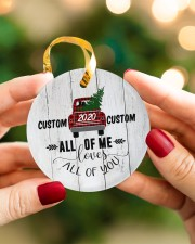 To Wife - Christmas - Red Truck - Personalized Circle ornament - single (porcelain) aos-circle-ornament-single-porcelain-lifestyles-08