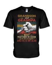 GRANDPA AND GRANDCHILDREN - TSHIRT V-Neck T-Shirt thumbnail
