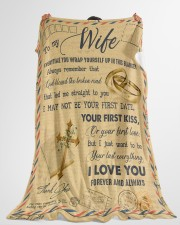 "To My Wife - Letter - Everytime You Wrap Yourself  Large Fleece Blanket - 60"" x 80"" aos-coral-fleece-blanket-60x80-lifestyle-front-10"