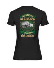 GRANDPA AND GRANSON - VINTAGE - THE LEGEND AND THE Premium Fit Ladies Tee thumbnail