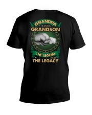 GRANDPA AND GRANSON - VINTAGE - THE LEGEND AND THE V-Neck T-Shirt thumbnail