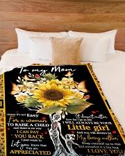 """To My Mom - Tree - Fleece Blanket Large Fleece Blanket - 60"""" x 80"""" aos-coral-fleece-blanket-60x80-lifestyle-front-02"""