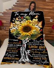 """To My Mom - Tree - Fleece Blanket Large Fleece Blanket - 60"""" x 80"""" aos-coral-fleece-blanket-60x80-lifestyle-front-04"""