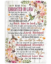 To My Daughter-in-law - Flowers - We Both Love 16x24 Poster front
