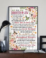 To My Daughter-in-law - Flowers - We Both Love 16x24 Poster lifestyle-poster-2