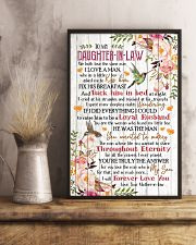 To My Daughter-in-law - Flowers - We Both Love 16x24 Poster lifestyle-poster-3