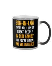 Son-in-law - You Volunteered - Mug Color Changing Mug tile
