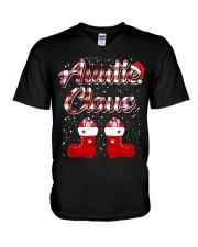 Auntie Claus V-Neck T-Shirt thumbnail