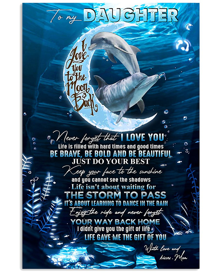 DAUGHTER - MOON DOLPHIN - KEEP YOUR FACE 16x24 Poster