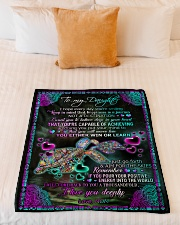 """To Daughter - I Hope Every Day You're Smiling Small Fleece Blanket - 30"""" x 40"""" aos-coral-fleece-blanket-30x40-lifestyle-front-04"""