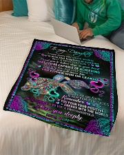 """To Daughter - I Hope Every Day You're Smiling Small Fleece Blanket - 30"""" x 40"""" aos-coral-fleece-blanket-30x40-lifestyle-front-07"""