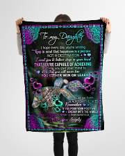 """To Daughter - I Hope Every Day You're Smiling Small Fleece Blanket - 30"""" x 40"""" aos-coral-fleece-blanket-30x40-lifestyle-front-14"""