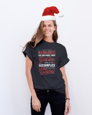 BESTIES - ACCOMPLICE - ALIBI Classic T-Shirt lifestyle-holiday-crewneck-front-1