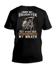 DAD AND DAUGHTER - WRATH - HURT MY DAUGHTER V-Neck T-Shirt tile