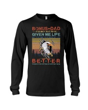 T-SHIRT - TO MY BONUS DAD - EAGLE Long Sleeve Tee thumbnail