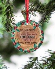 To My Wife - Christmas - I Love You More Circle ornament - single (porcelain) aos-circle-ornament-single-porcelain-lifestyles-07