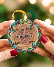 To My Wife - Christmas - I Love You More Circle ornament - single (porcelain) aos-circle-ornament-single-porcelain-lifestyles-08