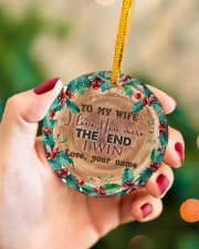 To My Wife - Christmas - I Love You More Circle ornament - single (porcelain) aos-circle-ornament-single-porcelain-lifestyles-09