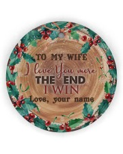 To My Wife - Christmas - I Love You More Circle Ornament (Wood tile