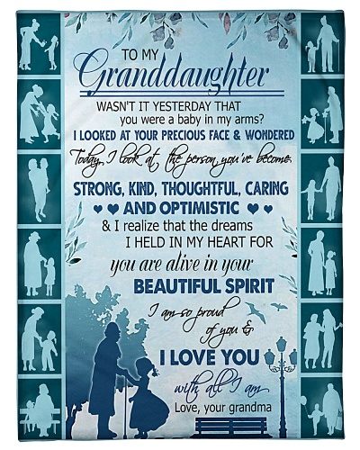 TO MY GRANDDAUGHTER - BLUE BLANKET - FROM GRANDMA