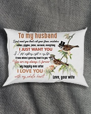 TO MY HUSBAND - COUPLE - I LOVE YOU Rectangular Pillowcase aos-pillow-rectangle-front-lifestyle-1