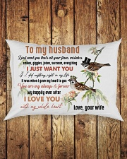 TO MY HUSBAND - COUPLE - I LOVE YOU Rectangular Pillowcase aos-pillow-rectangle-front-lifestyle-2
