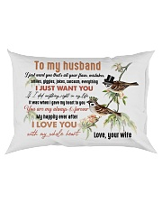 TO MY HUSBAND - COUPLE - I LOVE YOU Rectangular Pillowcase back