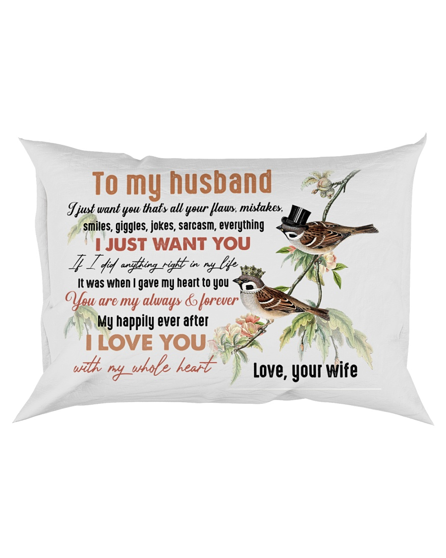 TO MY HUSBAND - COUPLE - I LOVE YOU Rectangular Pillowcase