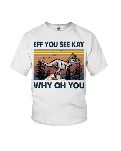 T-SHIRT - T-REX - NEW VINTAGE - EFF YOU SEE KAY