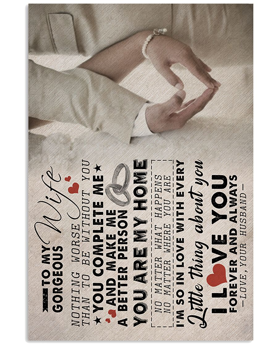 TO MY GORGEOUS WIFE 16x24 Poster