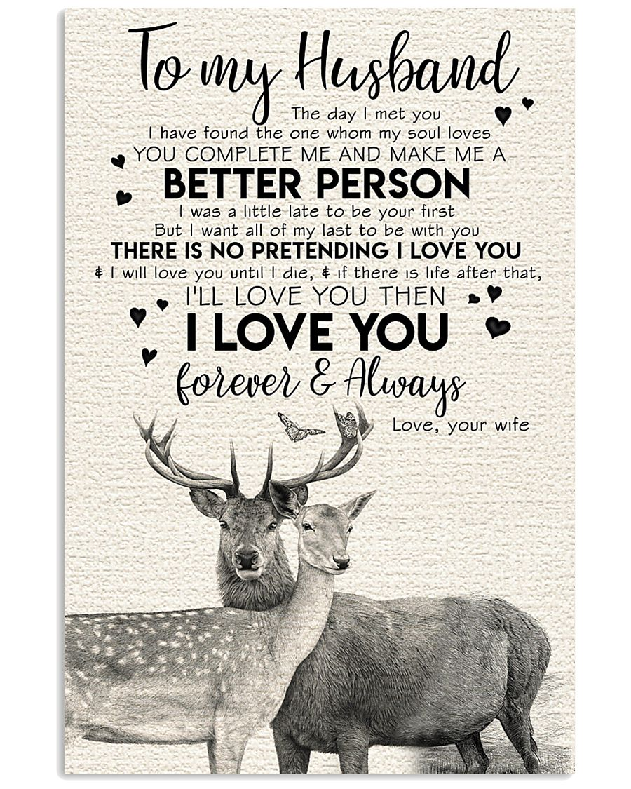POSTER - TO MY HUSBAND - DEER - THE DAY I MET YOU 16x24 Poster