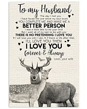 POSTER - TO MY HUSBAND - DEER - THE DAY I MET YOU 16x24 Poster front