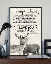 POSTER - TO MY HUSBAND - DEER - THE DAY I MET YOU 16x24 Poster lifestyle-poster-2